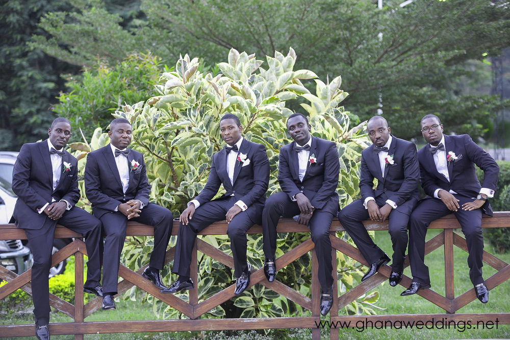 photoblog image Ghana Wedding groomsmen in Kumasi